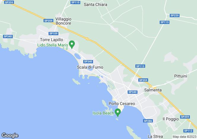Map for Apulia, Lecce, Porto Cesareo