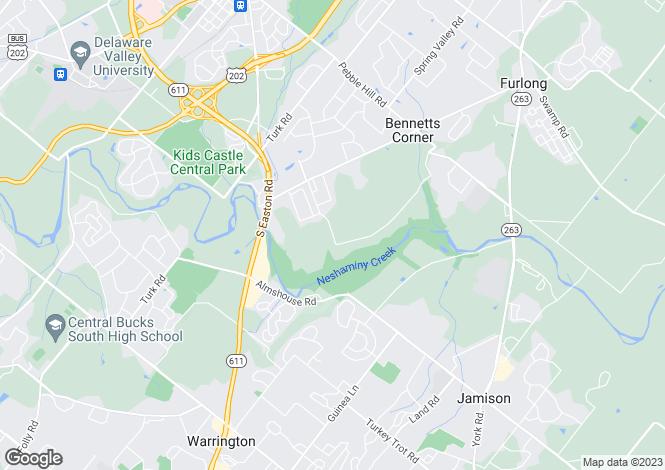 Map for Pennsylvania, Bucks County, Doylestown