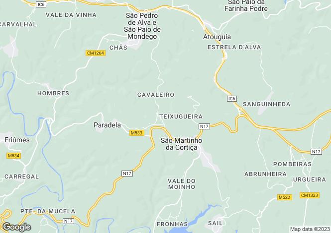 Map for Beira Litoral, São Martinho da Cortiça