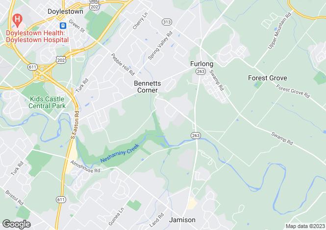 Map for Pennsylvania, Furlong
