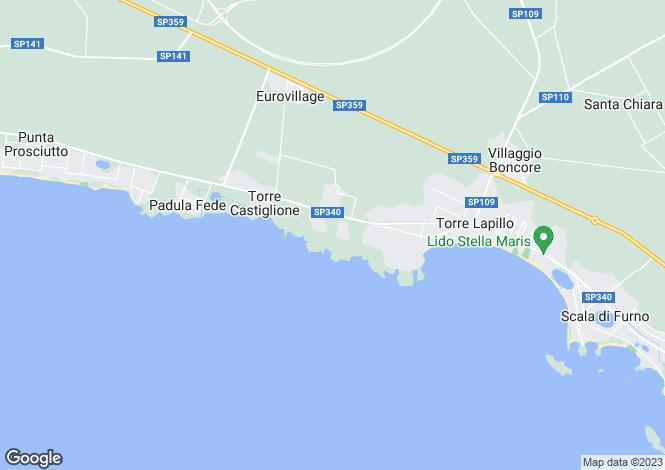 Map for Porto Cesareo, Lecce, Apulia