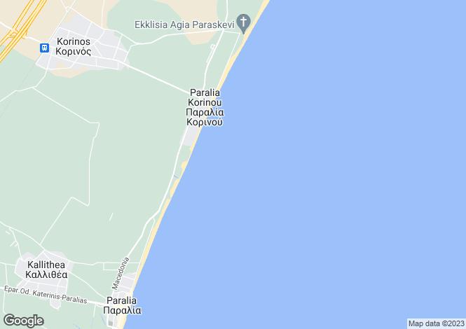 Map for Central Macedonia, Pieria, Korinos