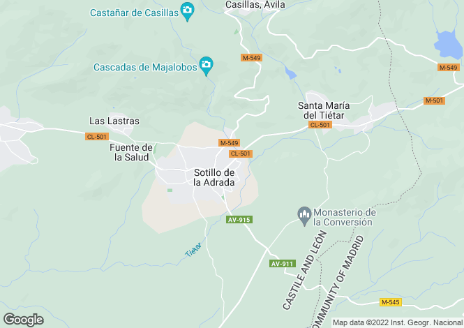 Map for Castile-Leon, Avila, Sotillo de la Adrada