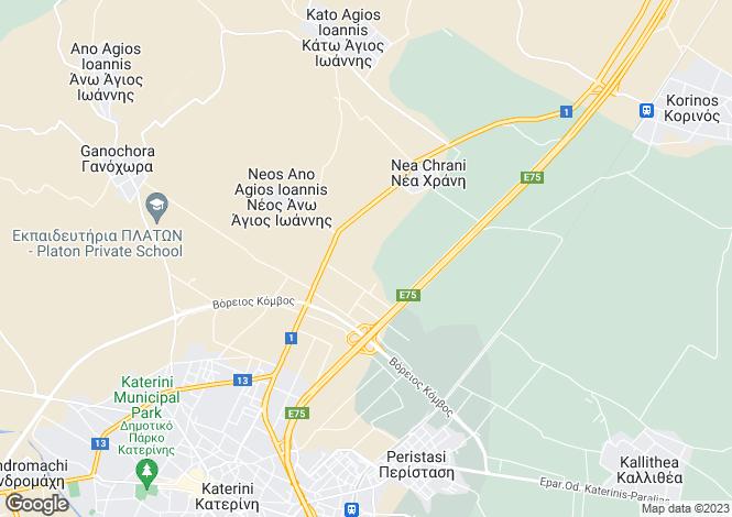 Map for Central Macedonia, Pieria, Peristasi