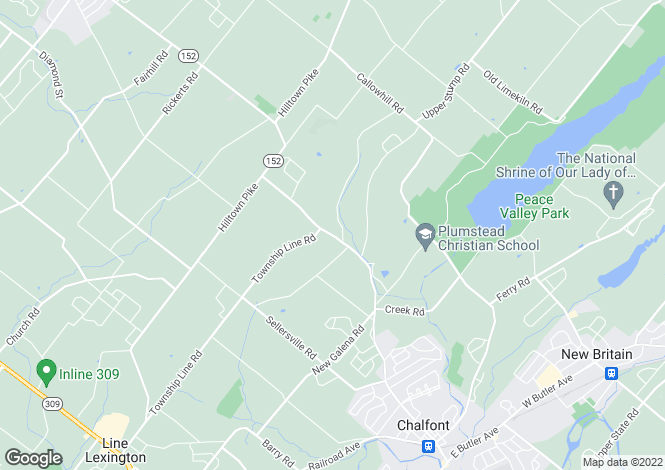 Map for Pennsylvania, Chalfont