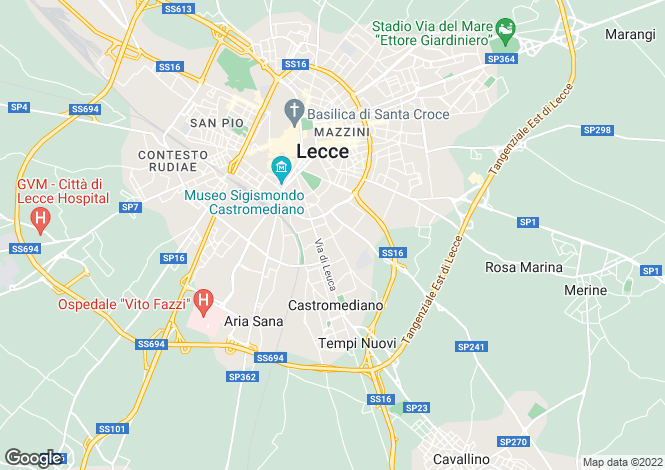 Map for Lecce, 73100, Italy