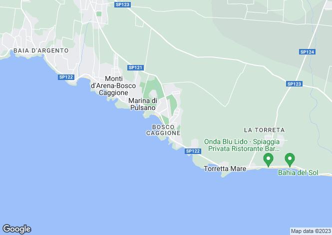 Map for Apulia, Taranto, Pulsano