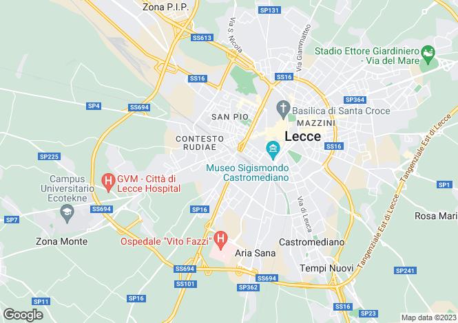 Map for Via Rudiae, Lecce, Apulia