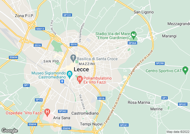Map for Italy - Apulia, Lecce, Lecce