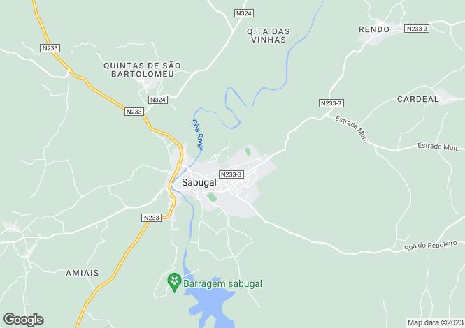 Map for Sabugal, Beira Alta
