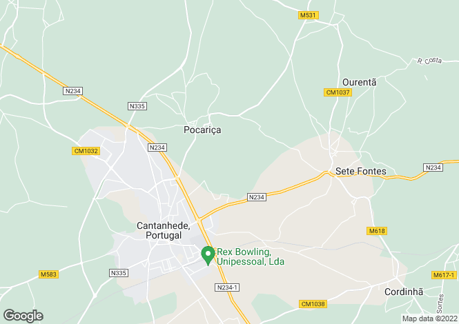 Map for Portugal,Coimbra,Cantanhede