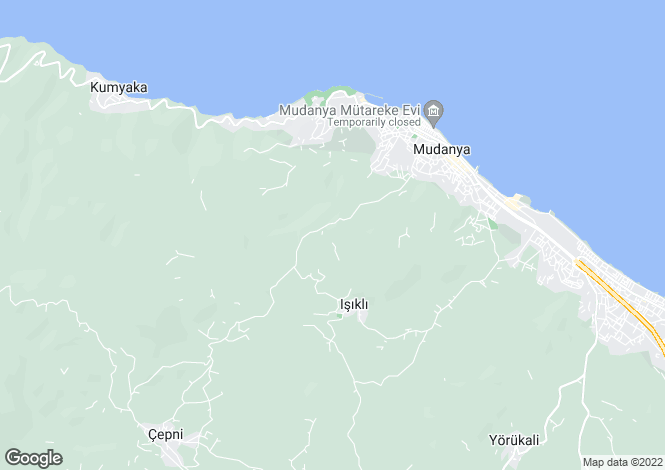 Map for Bursa, Marmara,  Turkey