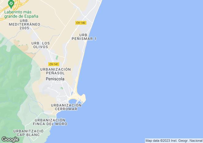 Map for Peniscola, Castellon, Spain