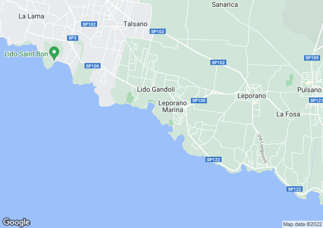Map for Apulia, Taranto, Leporano