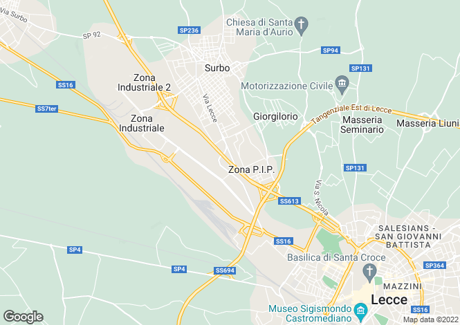 Map for SS613, Lecce, Apulia