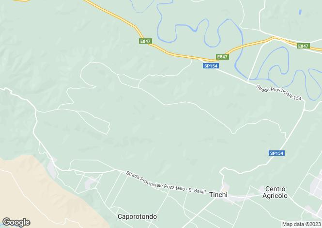 Map for Basilicata, Matera, Pisticci