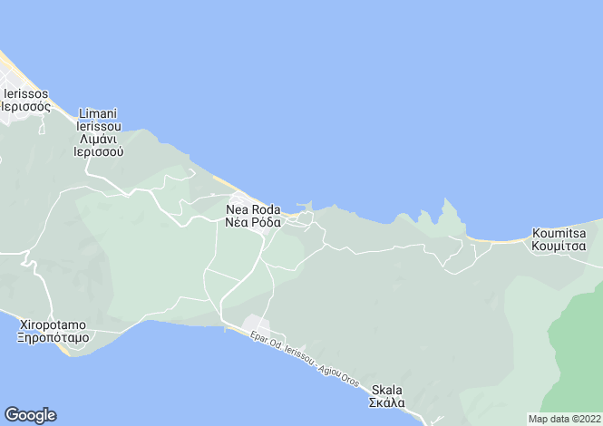 Map for Dodecanese islands, Rhodes, Haraki