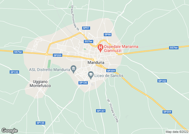 Map for Manduria, 74024, Italy