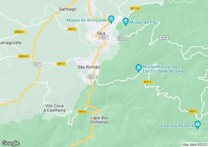 Map for São Romão, Beira Alta