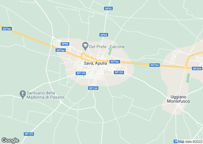 Map for Sava, 74028, Italy