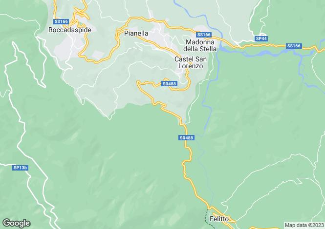 Map for Campania, Salerno, Castèl San Lorenzo