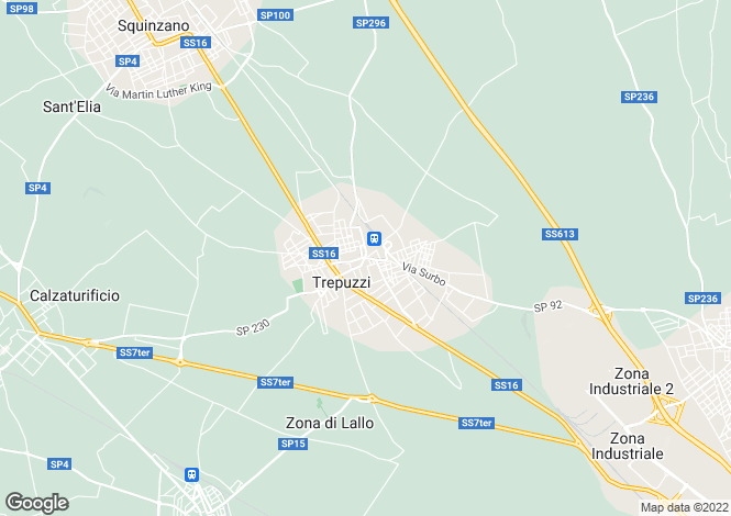 Map for via Assunta, Trepuzzi, Apulia