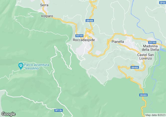 Map for Campania, Salerno, Roccadaspide