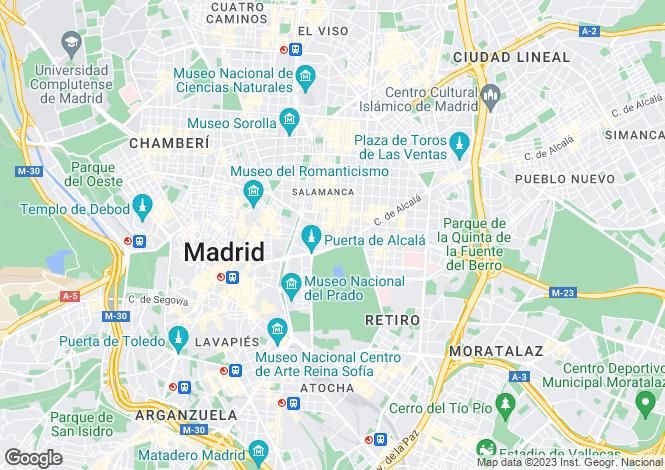 Map for Madrid, Madrid, Madrid