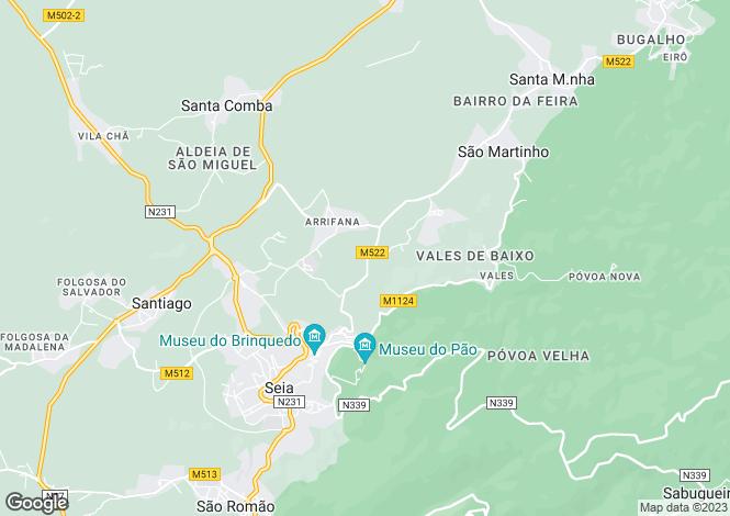 Map for Seia, Beira Alta