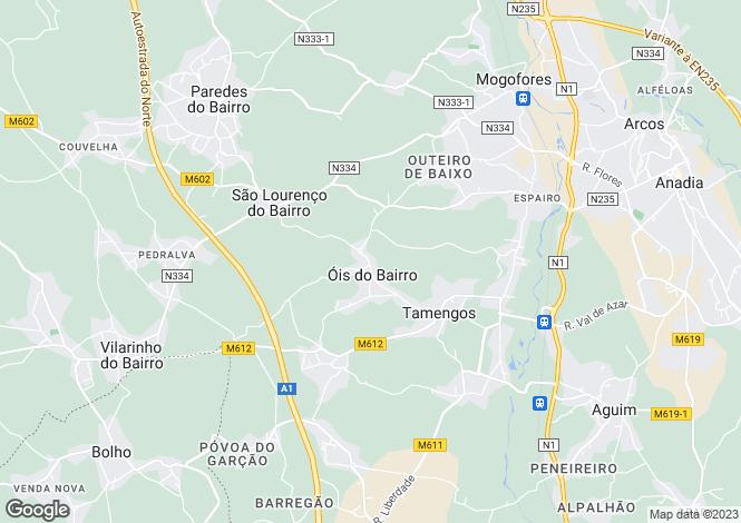 Map for Tamengos, Aguim e Óis do Bairro, Anadia, Aveiro