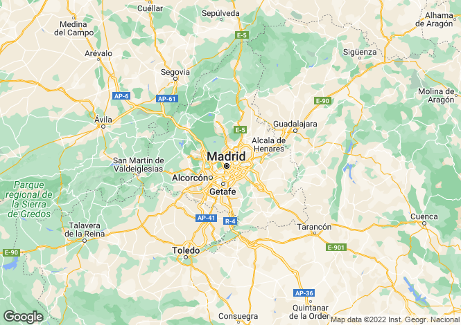 Map for Madrid, Madrid