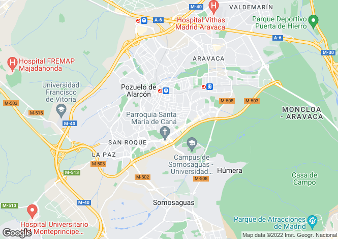 Map for Madrid, Madrid, Pozuelo de Alarcón