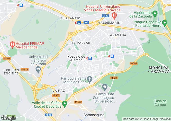 Map for Pozuelo de Alarcón, Madrid, Madrid