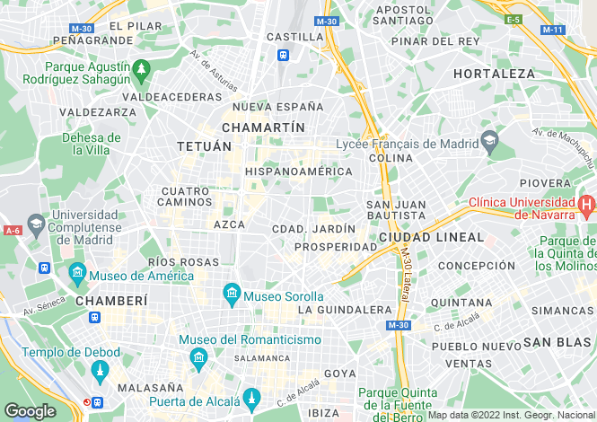 Map for Madrid, Madrid, Madrid