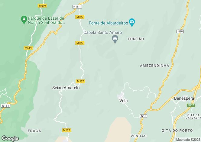 Map for Famalicão, Beira Alta