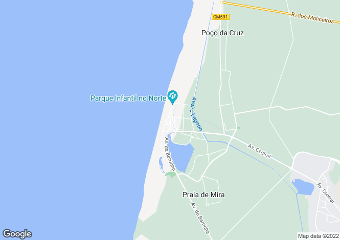 Map for Praia de Mira, Mira, Coimbra