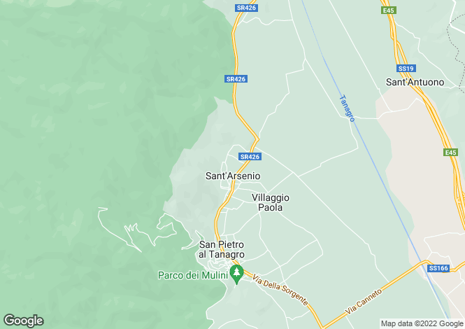 Map for Sant`Arsenio, Salerno, Campania