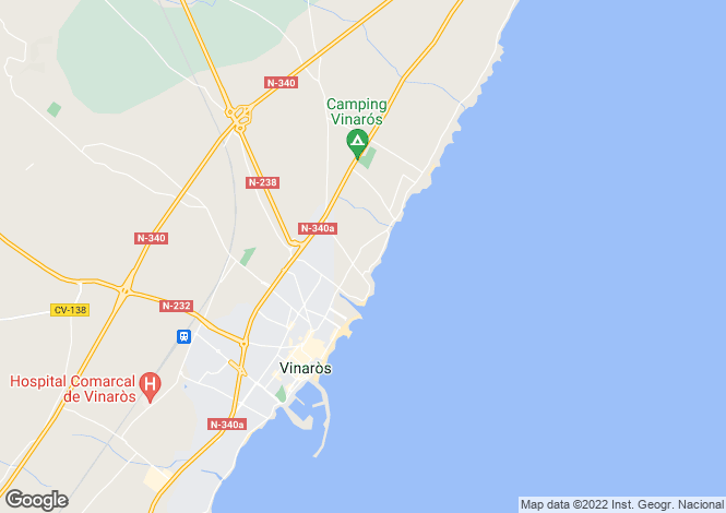 Map for Spain, Valencia, Castellón de la Plana, Vinaròs