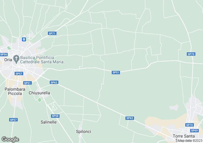 Map for Oria, Brindisi, Apulia