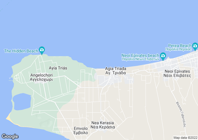 Map for Central Macedonia, Thessaloniki, Nea Michaniona