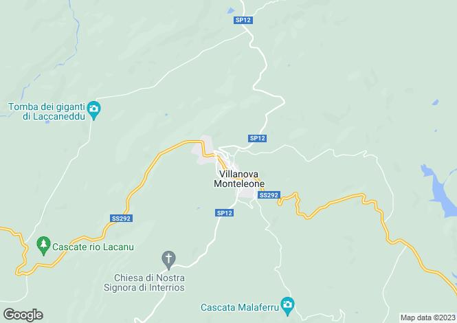 Map for Villanova Monteleone, Sassari, Sardinia