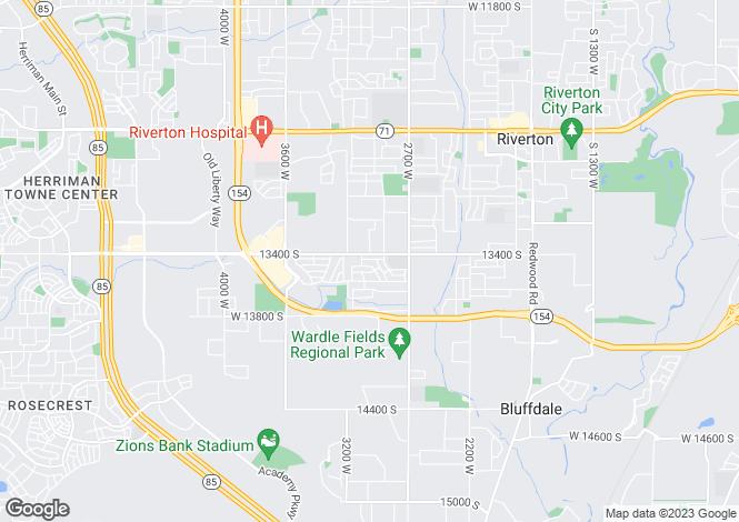 Map for USA - Utah, Salt Lake County, Riverton