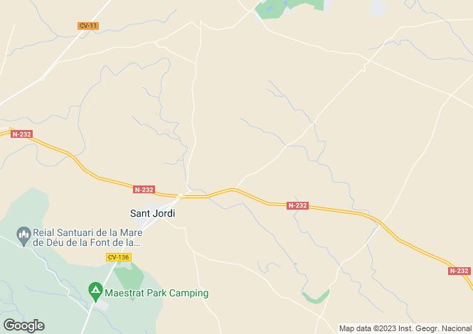 Map for San Jorge, Castellon (Costa del Azahar)