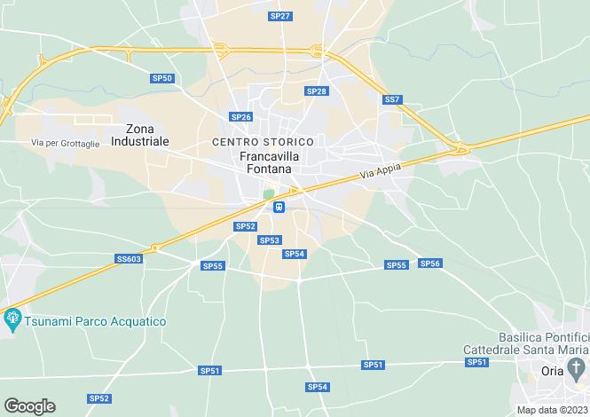 Map for Francavilla Fontana, 72021, Italy
