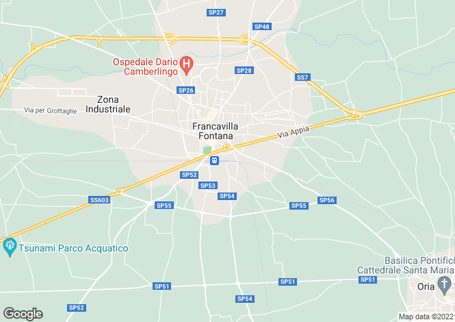 Map for Casolare in Pietra, Francavilla Fontana, Puglia, Italy