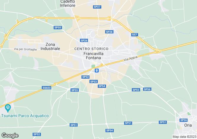 Map for Francavilla Fontana, Brindisi, Apulia