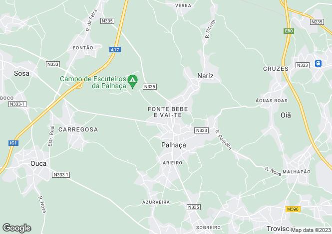 Map for Aveiro, Palhaça