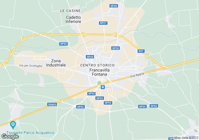 Map for s.p. 28, Francavilla Fontana, Apulia