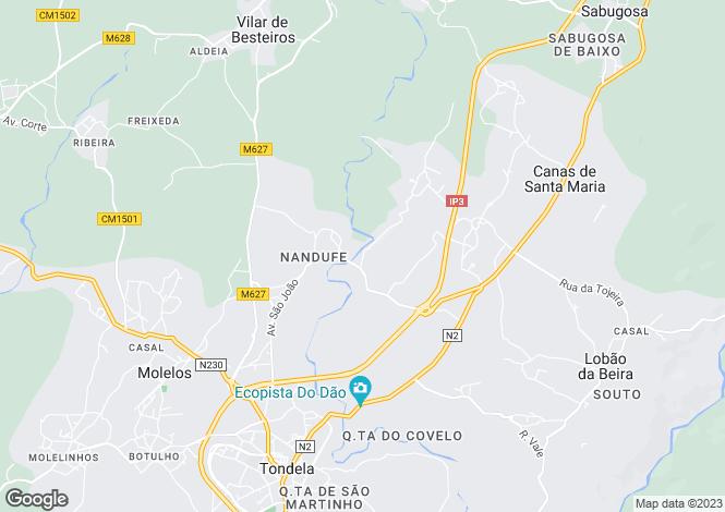 Map for Tondela, Beira Alta