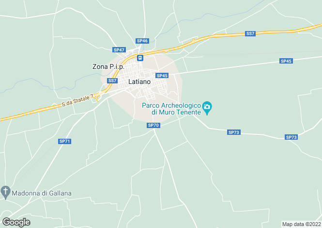 Map for Latiano, Brindisi, Apulia